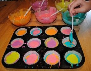 The-Dye Cupcakes, making these when spring rolls around!