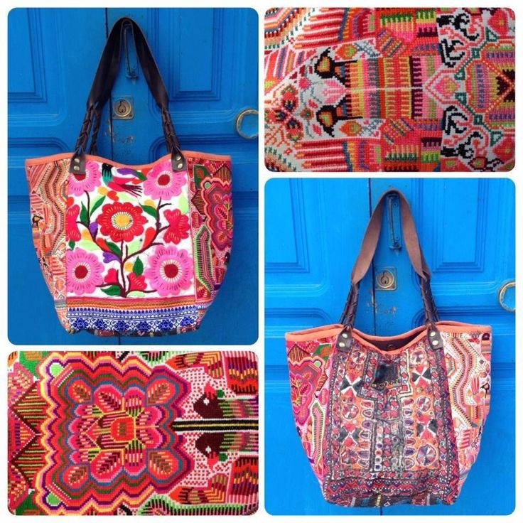 Ethnic bag. Mixed fabrics from Vietnam, India & Thailand. Only in Living International! Follow us on facebook! https://www.facebook.com/pages/Living-International/