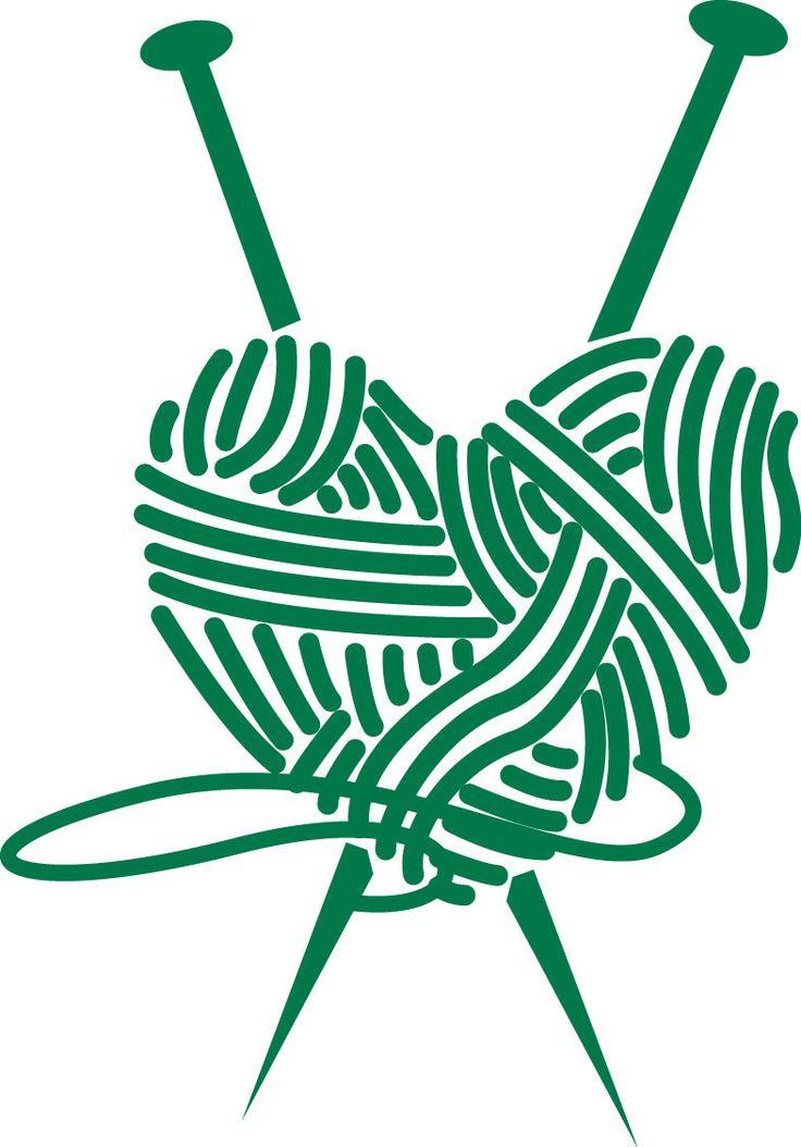 Knitting Heart Vinyl Decal - Love of Knitting A detailed vinyl decal sticker…