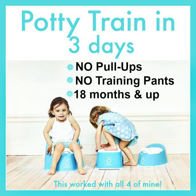 Potty training in three days (ages 18 months and up)