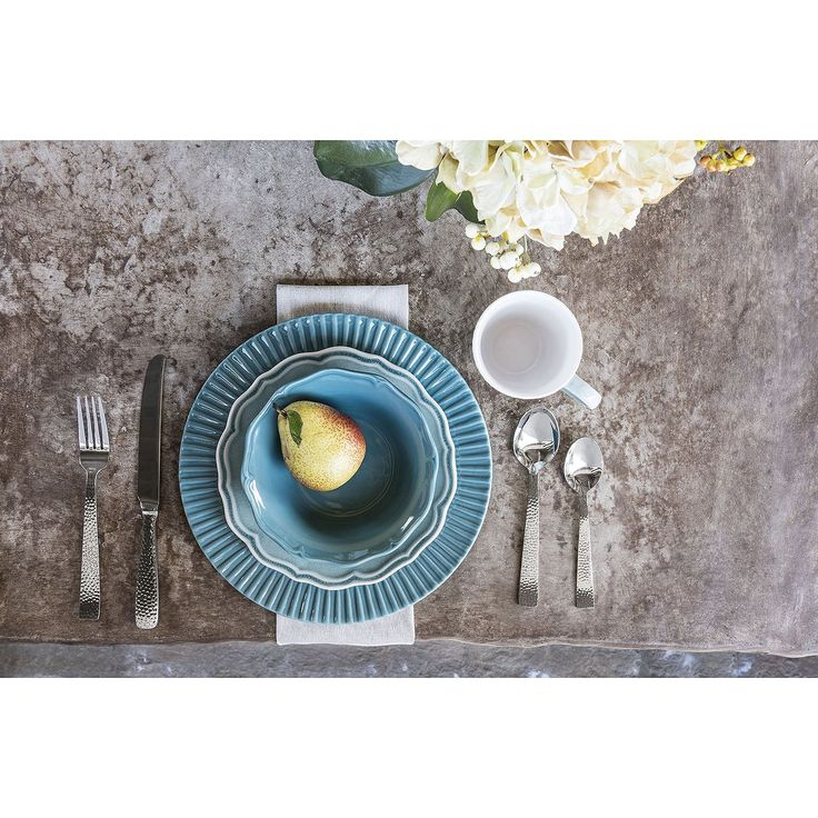 16-Piece Transitional Dinnerware Set (Assorted Colors) - Sam's Club
