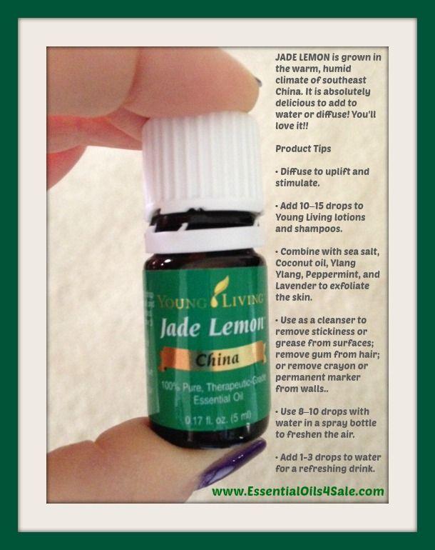 Uses for Jade Lemon essential oil - www.EssentialOils4Sale.com