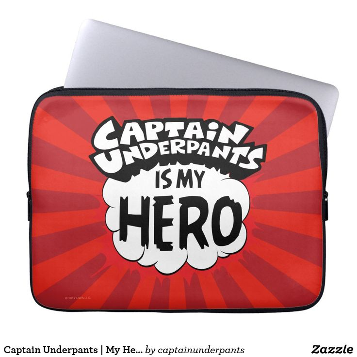 Captain Underpants   My Hero. Producto disponible en tienda Zazzle. Tecnología. Product available in Zazzle store. Technology. Regalos, Gifts. #fundas #sleeves