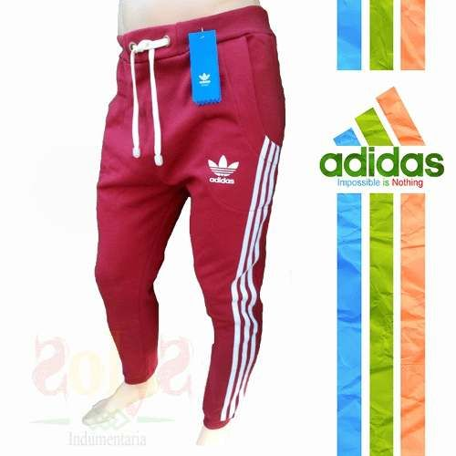 Pantalon Jogging Chupin Hombre Deportivo Algodon adidas Gym