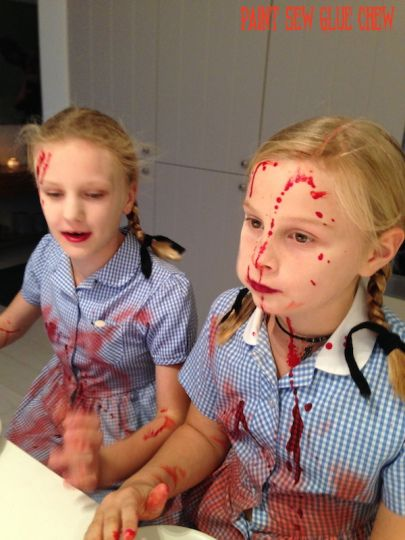 This creepy twins halloween costume is based upon the spooky twins from The Shining. So easy to recreate for a great scary diy halloween costume