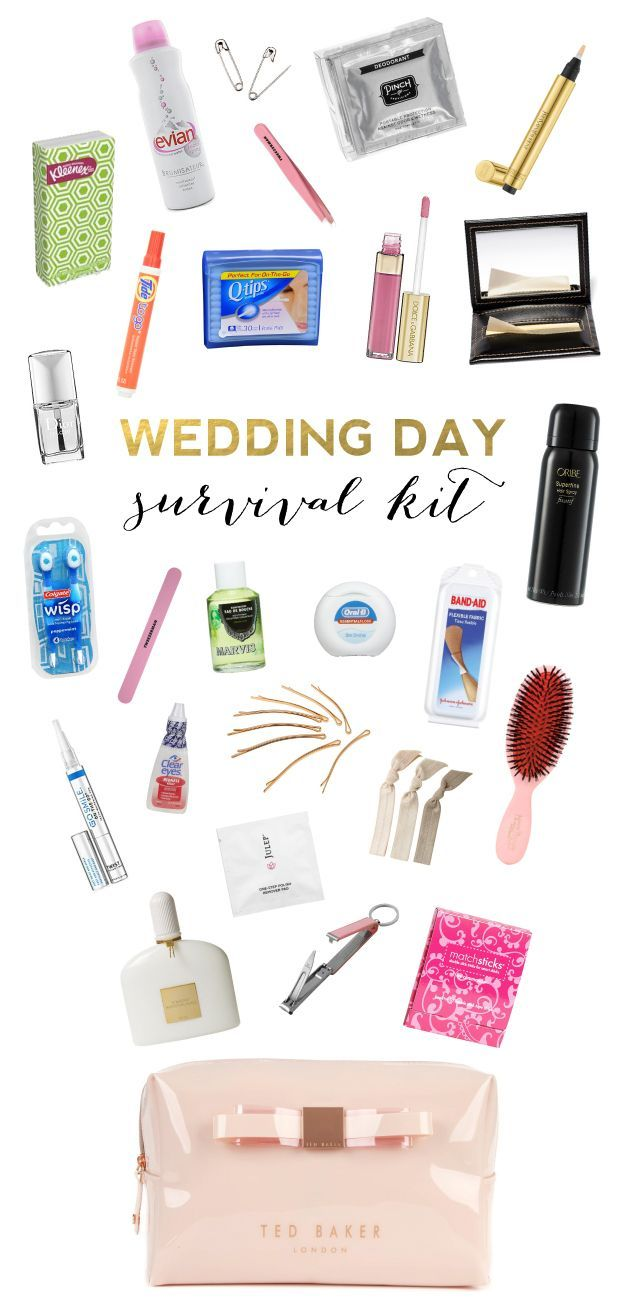 Wedding Day Survival Kit Procucts and Essentials Every Bride Should Have on Her Wedding Day