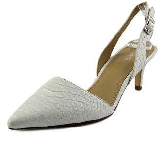 MICHAEL Michael Kors Claudia Sling Back Women Pointed Toe Leather Slingback Heel.