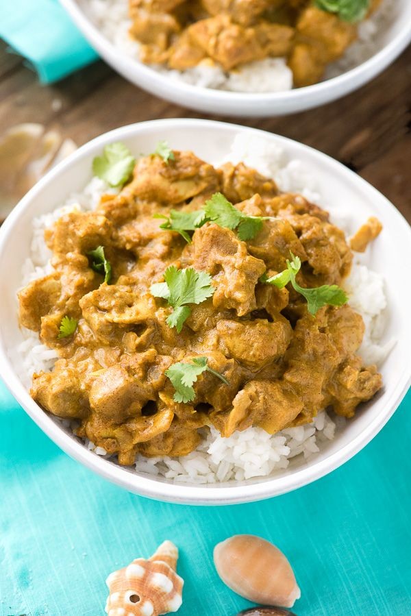Seychelles-style Coconut Chicken Curry. An recipe true to the style of the tropi…