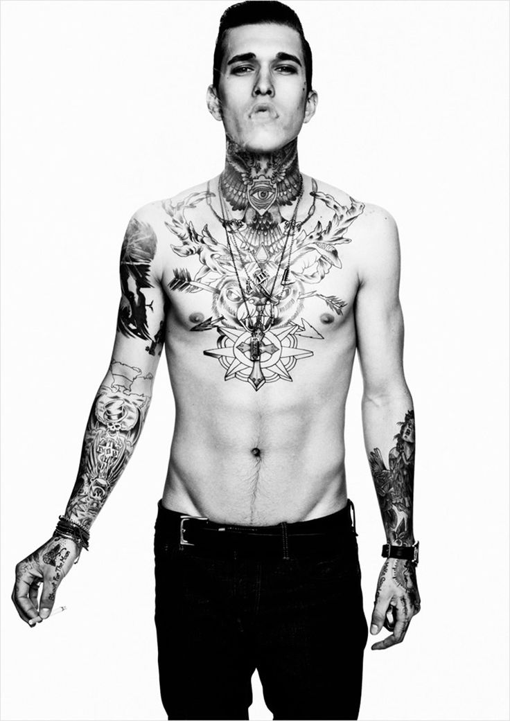 slender guys in tats fucking