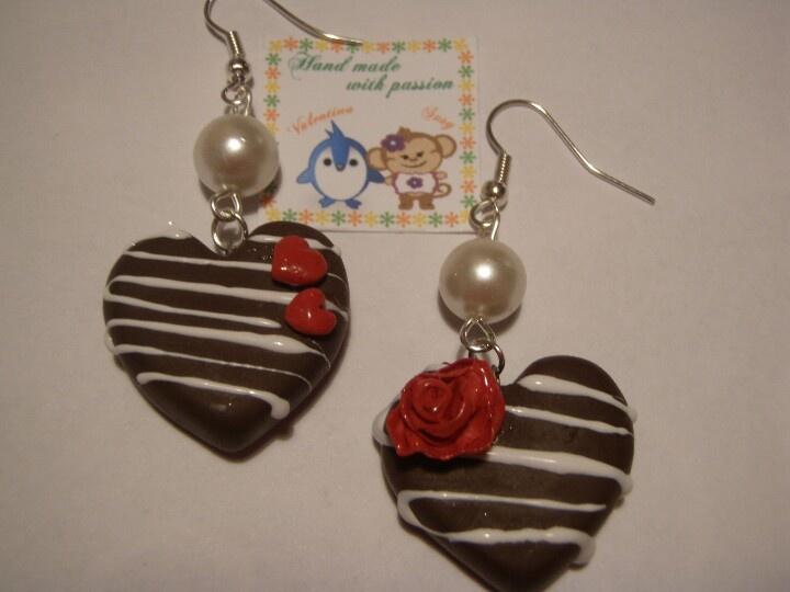Fimo's earings :-) www.facebook.com/perlinefantasiose #fimo #handmade
