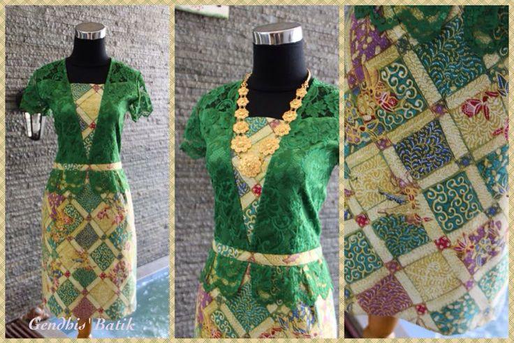 Batik tulis lawas halus Pekalongan + lace brukat best quality + lining tricot halus + furing. By Gendhis Batik