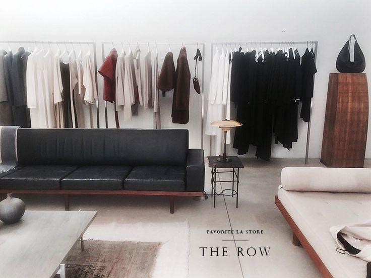 The Row in Los Angeles, CA | The Olsen's flagship boutique for their high end collection of womenswear, The Row