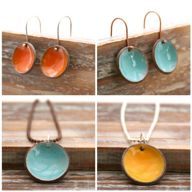 lucky accessories {enameled penny jewelry}