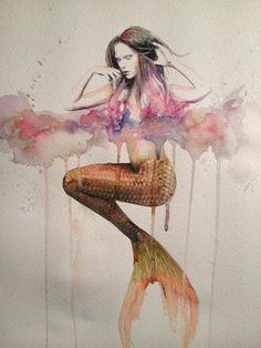 mermaid painting tumblr - Buscar con Google