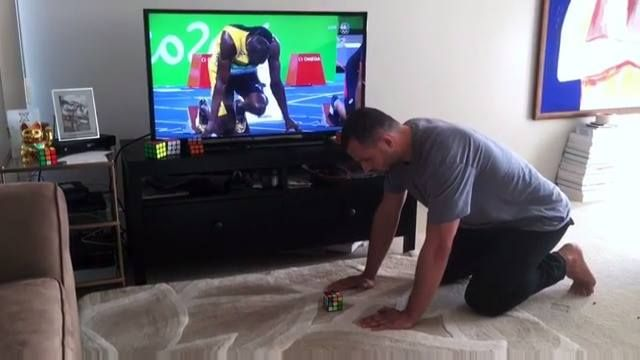 *Edits CV*  Can solve a Rubik's Cube faster than Usain Bolt runs the 100m...