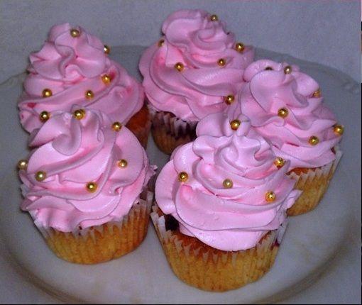 svieže a šťavnaté cupcakes