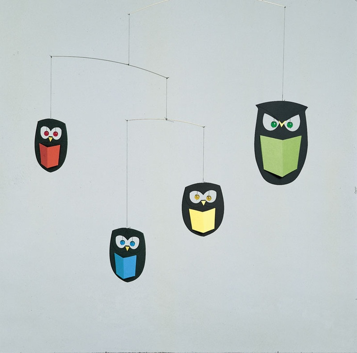 Love this Flensted owl mobile in primary colors!