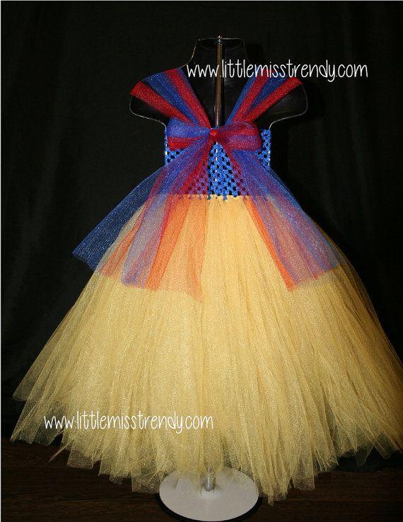 Snow White Inspired Tutu Dress-Tutu by LittleMissTrendyTutu