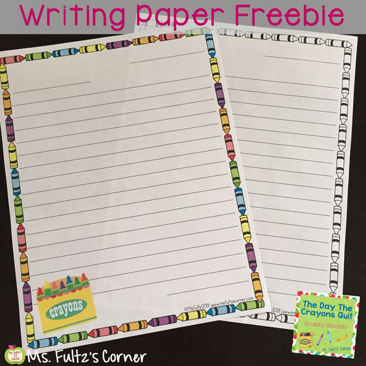 The Day The Crayons Quit Writing Freebie; this cute picture book has so many possibilities for writing workshop. Click here to grab several cute pages of writing paper, totally free.