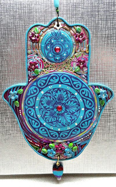 Mandala Hamsa by efrat_kuvent, via Flickr