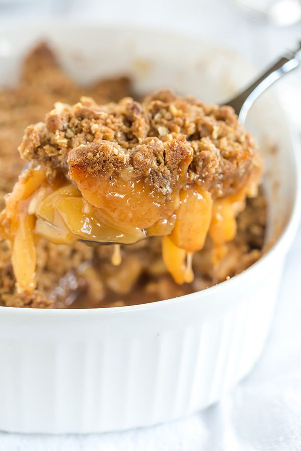 This apple crisp is filled to the brim with amazing apple flavor and topped with the perfect oat crumble. The best apple crisp I've ever had!