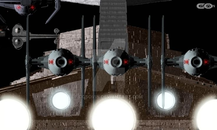 5 Star Wars - Star Destroyer and Tie Fighters by cosovin.deviantart.com on @DeviantArt