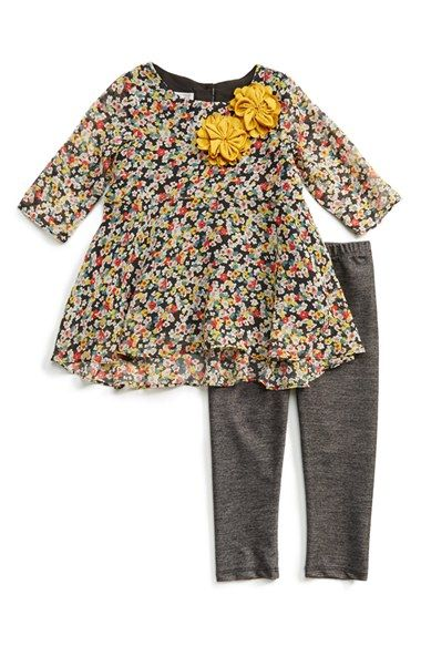 Pippa+&+Julie+High/Low+Tunic+&+Leggings+(Toddler+Girls)+available+at+#Nordstrom