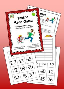 FREE Factor Race Math Game (Aligned with CCSS 4.0A.4): Free Factors, Finding Factors, Corkboard Connection, Math Games, Classroom Freebies, Games Align, Factors Racing, Racing Math, Racing Games
