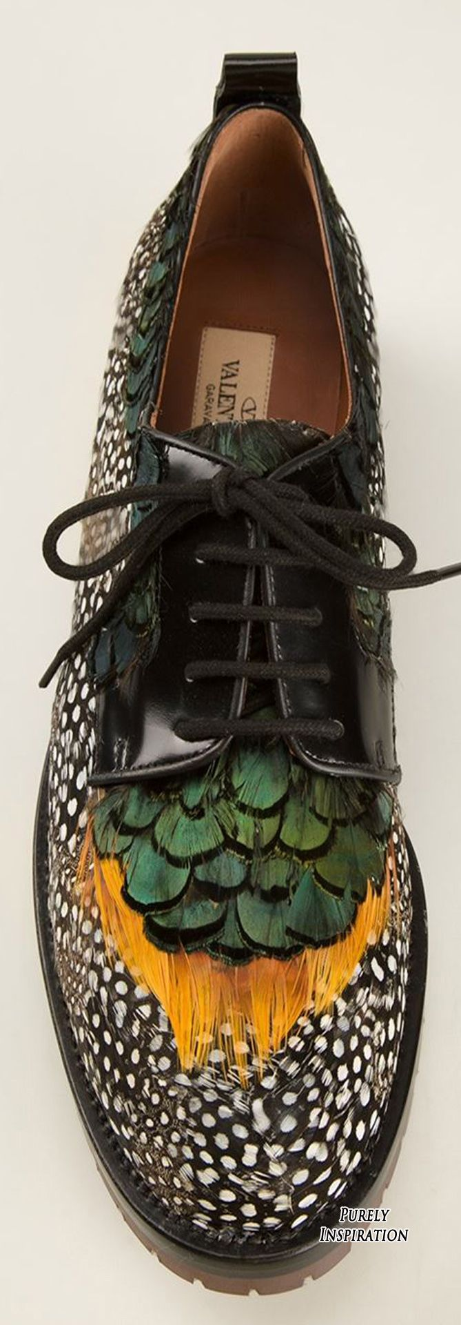 Valentino Garavani Women's feather brogues | Purely Inspiration