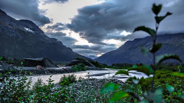 A beautiful, vast view of the Alaskan landscape just outside Seward.Tv Show