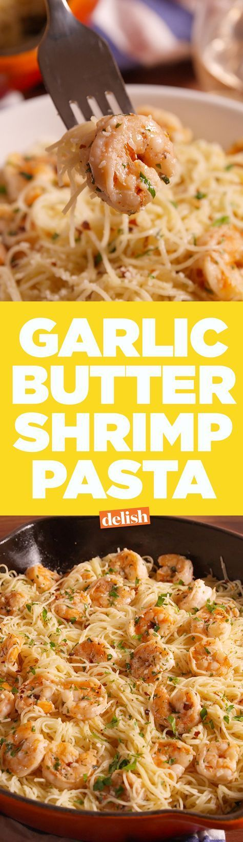 No one can resist this Garlic Butter Shrimp Pasta. Get the recipe on Delish.com.