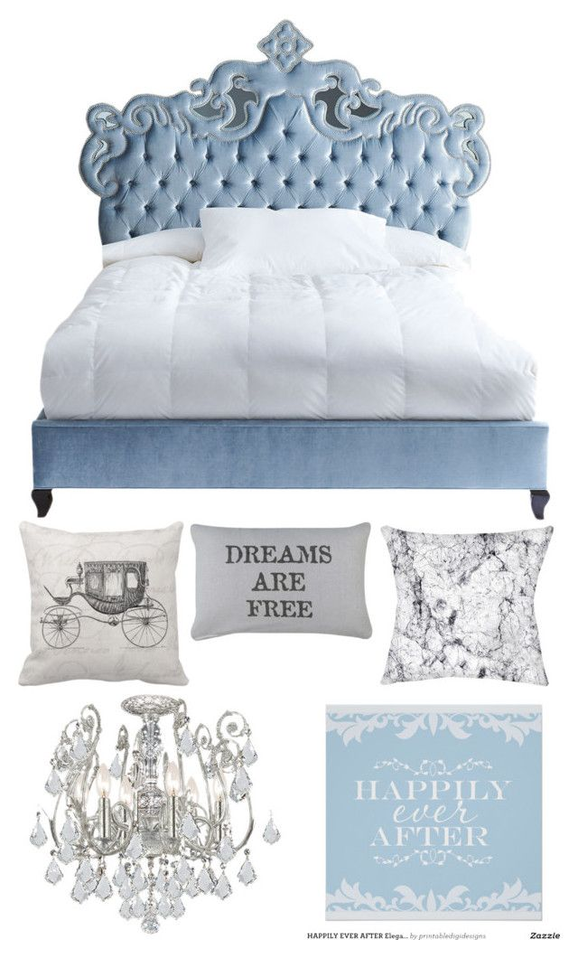 """Cinderella Bedroom"" by rapunzelcorona on Polyvore featuring Haute House, Park B. Smith, Crystorama and bedroom"