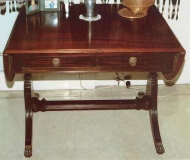 Regency Style Desk, Typical Brass Lion Paw Foot