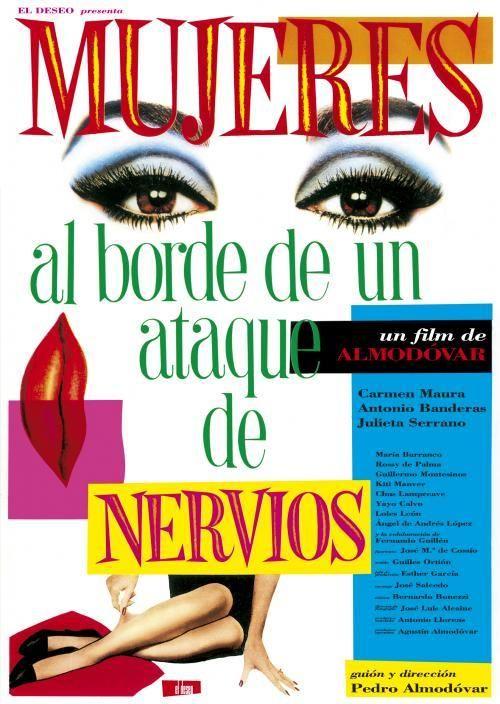 """Cartel """"Mujeres al borde de un ataque de nervios"""" de Pedro Almodovar. #learnspanish"""