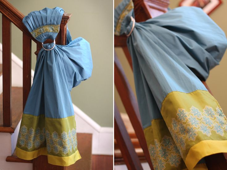 One Baby, Two Moms: DIY: Ring Sling - I love this fabric choice. I may have to make one of these in yellow and blue.