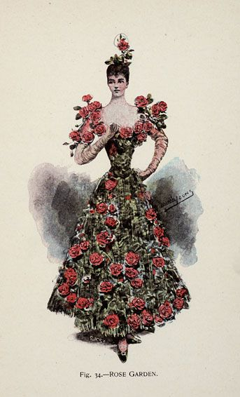 Rose Garden from 'Fancy Dresses Described; or, What to Wear at Fancy Balls,' by Hold, Ardern, 1896