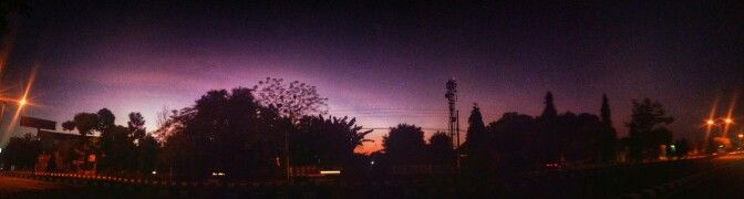 Dawn @ringroad utara Jogjakarta Indonesia