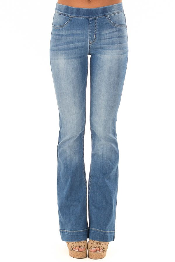 f95f50f8deb Light Wash Denim Flare Jeggings in 2018
