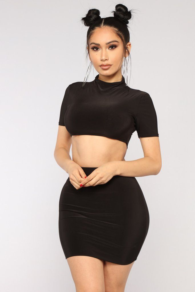 3965152ea3f Kaden Skirt Set - Black | Fashion Nova | Matching Sets in 2019 ...