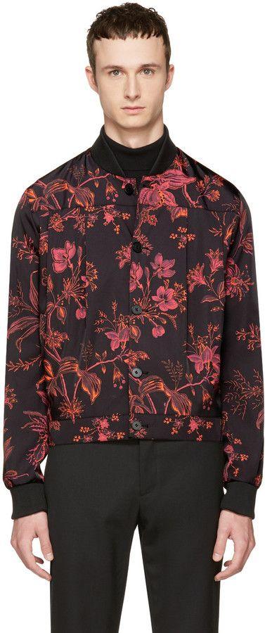 McQ Alexander McQueen Black Atami Kilt Bomber Jacket