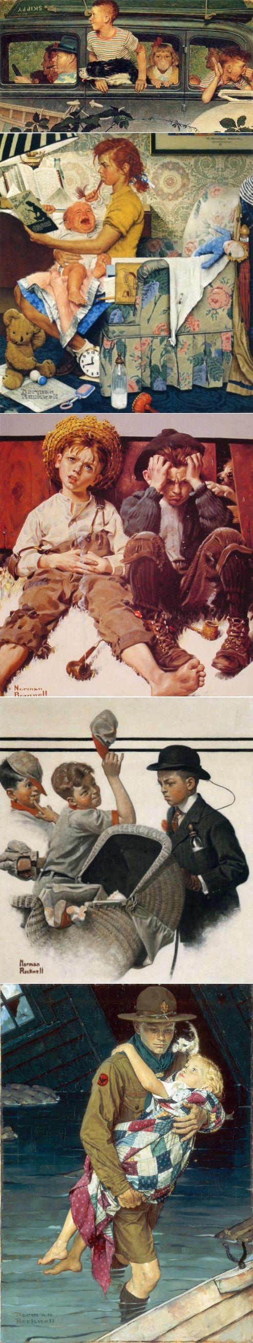 Ироничные работы Нормана Роквелла, в которых запечатлена самая настоящая жизнь