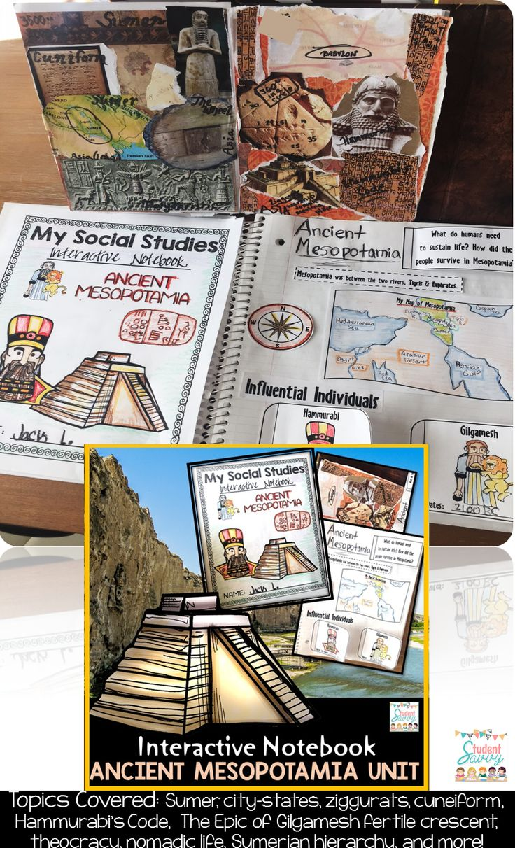 Ancient Mesopotamia Unit - 6th Grade Interactive Social Studies Notebook!