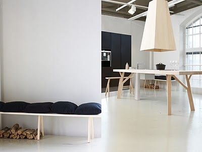 LOVE the white polished concrete floor