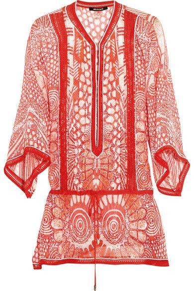 Travel Ready Resort Wear| Serafini Amelia|  Swim Wear-ROBERTO CAVALLI Printed silk-chiffon kaftan