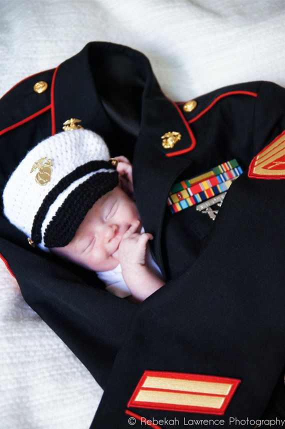 Crochet Marine Corps Female Cover And Diaper By