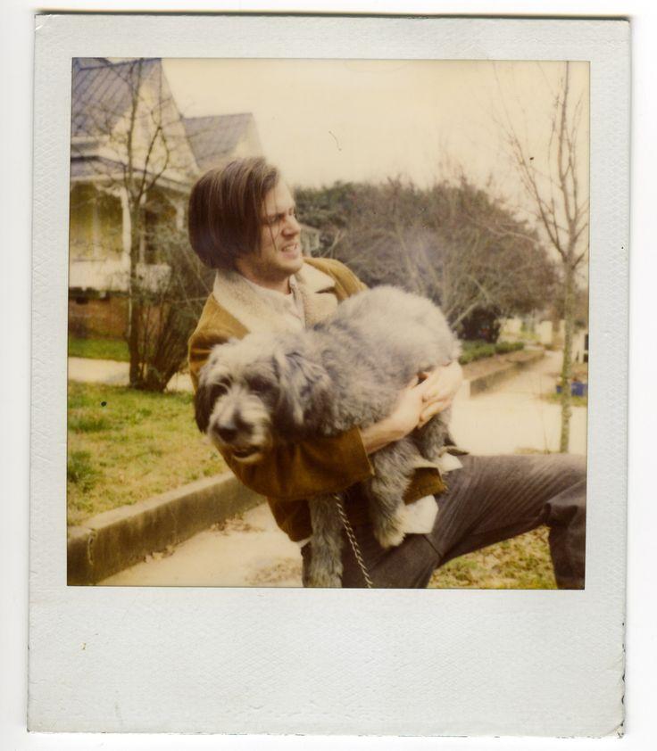 Polaroid of roomate Jeff Mangum and beloved dog in Athens, Georgia circa 1999