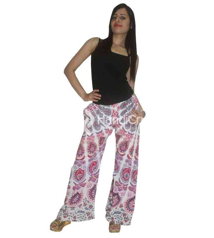 Shop palazzo pants online on handicrunch. Increase your fashion flair with unique collection of cotton printed palazzos for