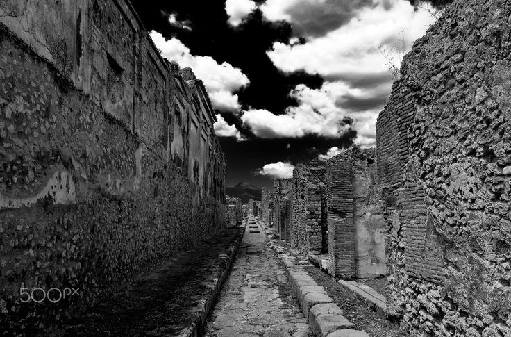 in the shadow Mount Vesuvius - Pompei, Italy