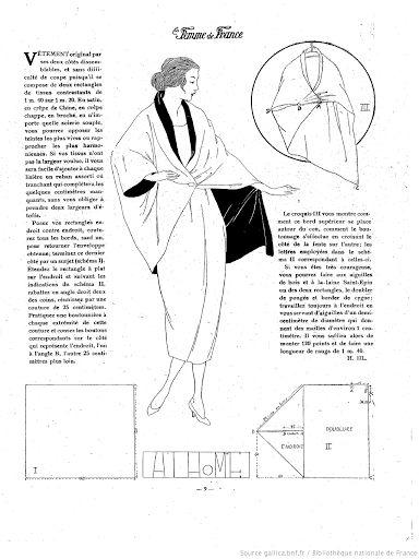 1920s coat/wrap pattern