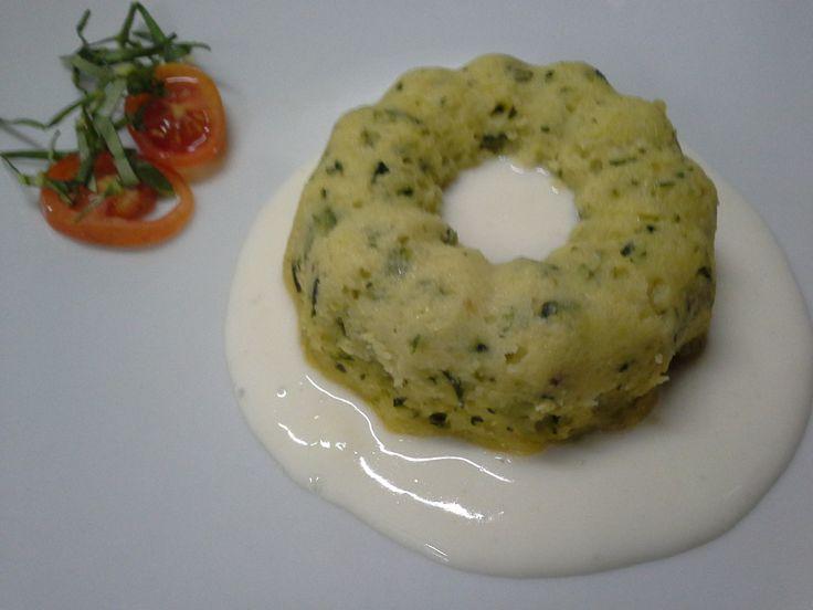 """Sformato alle zucchine con crema di formaggio """"Asìno"""""""